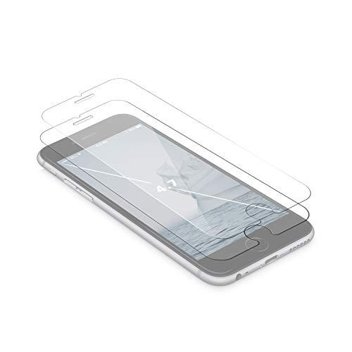 YOSH Protector de Pantalla para iPhone 6/6S 2 Unidades, Cristal Vidrio Templado 0.33mm Alta Definicion 9H Dureza 3D Touch, Garantía de por Vida (4,7 Pulgadas)