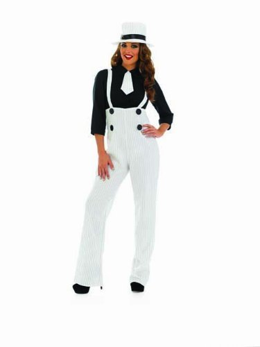 ADULT LADIES 1920'S WHITE LADY GANGSTER - SIZE MEDIUM