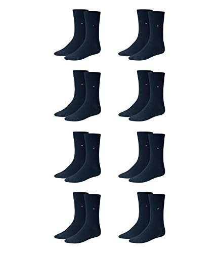 TOMMY HILFIGER Herren Classic Casual Business Socken 8er Pack  ( Dark Navy , 43-46 )