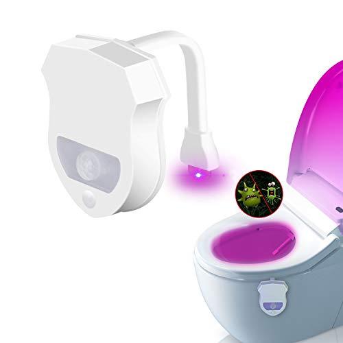 JESWELL WC Licht mit Bewegungsmelder, UV Sterilisation Toiletten Licht mit 8 Farben Wechselnde LED Toilette Licht Sitzleuchte Detektor Toilette Motion Aktiviert WC-Schüssel Licht -