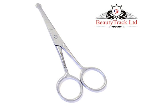 Beautytrack forbici per peli naso, baffi, barba, sopracciglia, capelli bambino forbici del trimmer del salone dei capelli della barba prodotto di qualità dell'acciaio inossidabile solido del forbice di taglio dei capelli