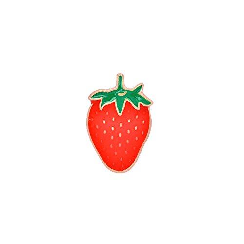 CAOLATOR Kinder Brooch Damen Brosche Niedlich Frucht Thema Broschen Frauen 3D Kreativ Emaille Nadel Anstecker Anstecknadeln Schmuck für Kleidung/Schals/Tücher/Ponchos/Hochzeit