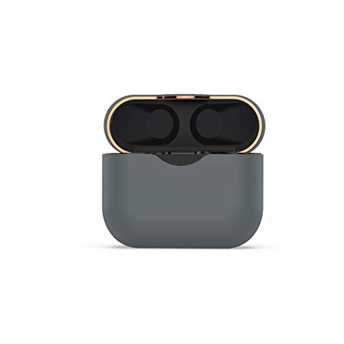 CAOQAO Housse en Silicone Housse De Protection Contre Les Rayures Flexible Compatible pour Sony WF-1000XM3, Accessoires De Casques Portables, éTui De Casque Bluetooth(Gris)
