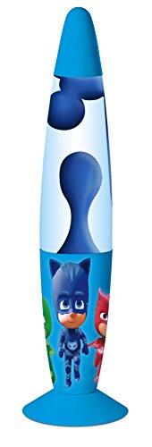 empireposter Lavalampe - PJ Masks - Blue - Größe Ø8,5xH33,5 cm - Dekoleuchte Kinder - Hochwertige Lavaleuchte aus Metall mit Echt-Glas Einsatz und 240V Anschluss mit Schalter. -