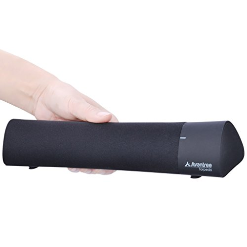 Avantree Bluetooth Soundbar, Altoparlante per computer, Altoparlanti per Mac,PC,Tablet, Senza Fili dal Suono Eccellente 10W, con Tecnologia DSP, Portatile Sound bar per iPad, Notebook, Super Bassi ed Effetti Sonori - Torpedo