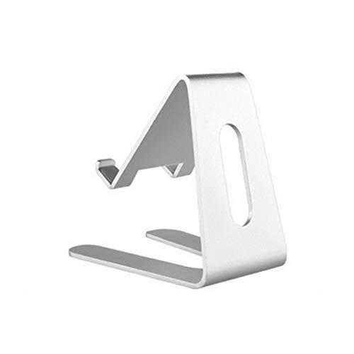 Handy Ständer Tablet StänderHandy Halterung Aluminiumlegierung Silikon Handyhalter Stand Ausstellungsstand-Reisestände funktioniert mit den meisten Smartphones (1PC) (Liege Stand Monitor)