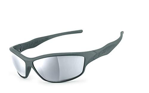 Helly® - No.1 Bikereyes® | H-FLEX®- unzerbrechlich, UV400 Schutzfilter, HLT® Kunststoff-Sicherheitsglas nach DIN EN 166 | Bikerbrille | Brillengestell: grau matt, Brille: fender 2.0