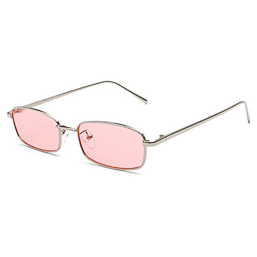 Small Slim Sunglasses Women Brand Designer Elegant Pink Clear Lens Sun Glasses Shades