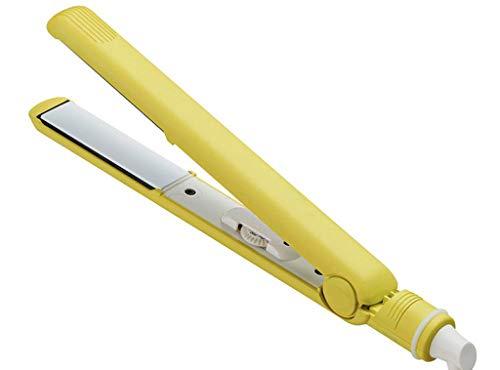 YQ&TL Plancha para el Pelo Tablilla de Pelo Recta Multifuncional Plancha para el Pelo al Vapor eléctrica Alisadores para el Cabello Rizador Peluquería Estilo al Vapor, Amarillo