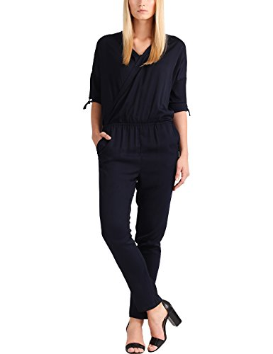 APART Fashion Work Navy-Beige, Combinaison Femme Blau (Blau (Marine Marine) Marine)