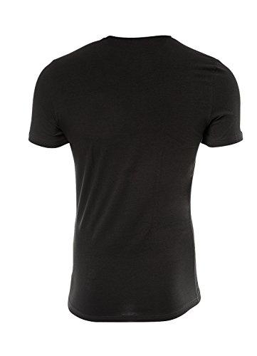 JOOP! Herren 2er-Pack Fine Cotton Stretch Rundhals T-Shirt, Unterhemd, Einfarbig: Farbe: Schwarz | Größe: 5 (Medium)