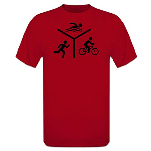 Shirtcity Triathlon Silhouette Logo T-Shirt by
