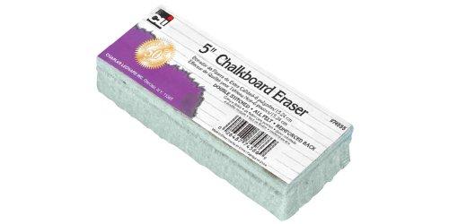 (Charles Leonard INC. Kreidetafel Filz Radiergummi, 12,7cm, weiß, 12/Pack (74555))