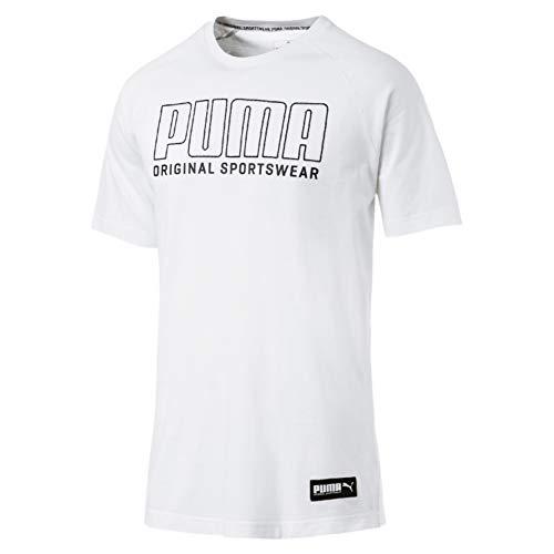 PUMA Athletics Graphic tee Camiseta, Hombre, White, L