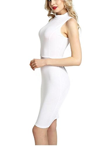 Tootlessly Women's Backless Sleeveless Sexy Business Pencil Midi Dress