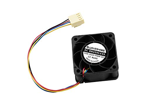 Waveshare Dedicated Cooling Fan for NVIDIA Jetson Nano Developer Kit 5V PWM Speed Adjustment Strong Cooling Air 4PIN Reverse-Proof Connector