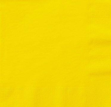 THALI Outlet–125x Gelb 2-lagig 33cm 4Falz Papier Servietten Tissue Servietten für Geburtstage Hochzeiten Partys alle Anlässe