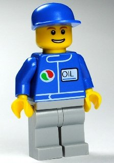Preisvergleich Produktbild LEGO CITY - seltene MINIFIGUR MECHANIKER oct063 - Tankstelle Octan