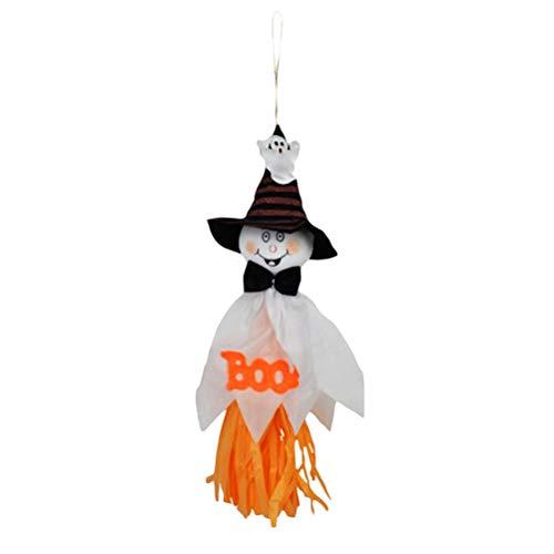 BESTOYARD Halloween Geist Kinder Hängen Dekor Halloween Party Dekoration Lieferungen Geist anhänger für Home Party Bar (weiß)