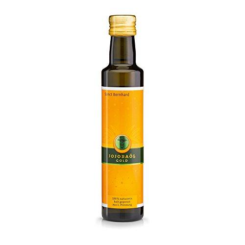 Sanct Bernhard Jojobaöl Gold, Haut- und Massageöl, 100% naturrein, kalt gepresst, aus 1. Pressung, Inhalt 250 ml