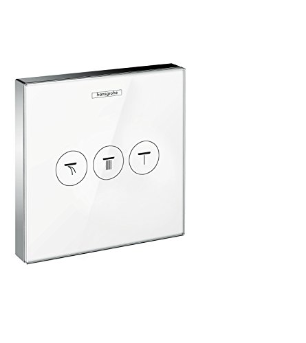 Hansgrohe 15736400 ShowerSelect Glass, válvula empotrada, blanco/cromo, 3 salidas