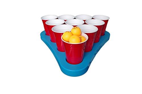 *Beer Pong Rack Set mit Bier-Kühlung N-Ice Racks inkl. Zubehör, Bälle & Anleitung (mit 25 Red Solo Cups)*
