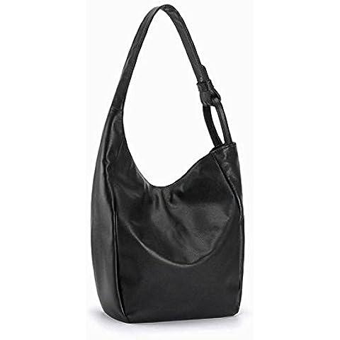 bolso de cuero de moda bolsa de cuero suave de media luna de la mujer