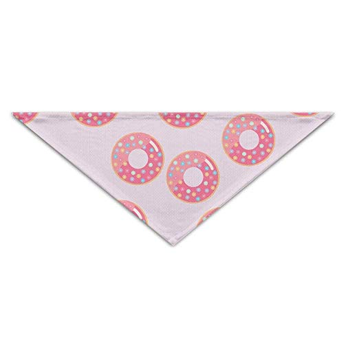 Hectwya Pet Bandanas schöne süße Donuts PrintingHund