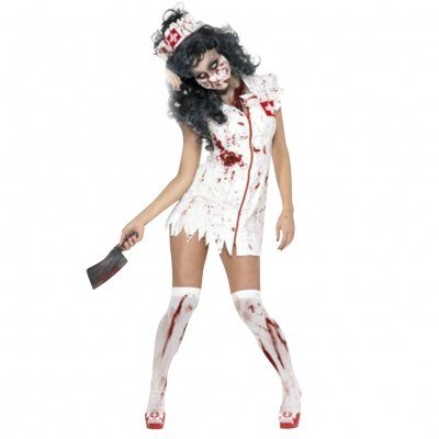 Zombie Frauen Kostüm - Zombie-Krankenschwester-Kostüm Halloween (M)