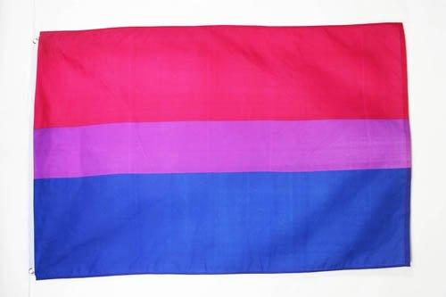 FLAGGE BISEXUELLEN 150x90cm - BISEXUALITÄT FAHNE 90 x 150 cm - flaggen AZ FLAG Top Qualität