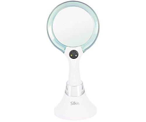 youneeq Silk'n Schmink Spiegel mit Normaler Ansicht und 5-Fach Vergrößerung, LED Beleuchtung, 2...