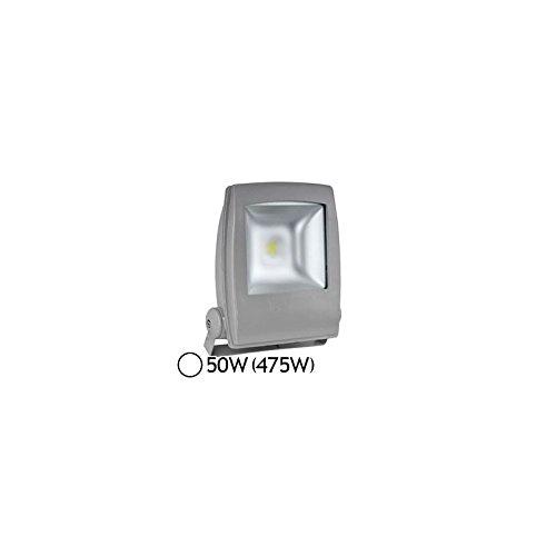 projecteur extérieur à led - vision-el - 50w - 6000k - gris - ip65 - plat