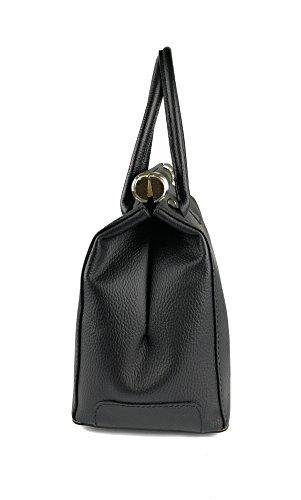 Zerimar Leder-Umhängetasche für Damen Große Umhängetasche aus weichem Leder handtasche aus echtem leder Schwarz
