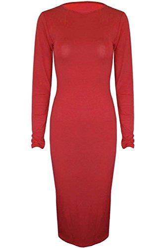 OOps Outlet Damen Long Sleeve körperbetont Mehrfarbig Red