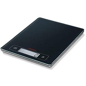 Soehnle Page Profi Digitalwaage für max. 15 kg, digitale Küchenwaage mit großer Wiegefläche und Tara, praktische Haushaltswaage mit Hold-Funktion, anthracite