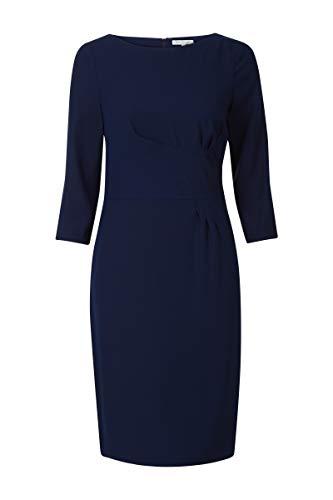 Promiss Damen Kleid Einfarbig Dunkelblau Dorothy Ls, Nachtblau, 44