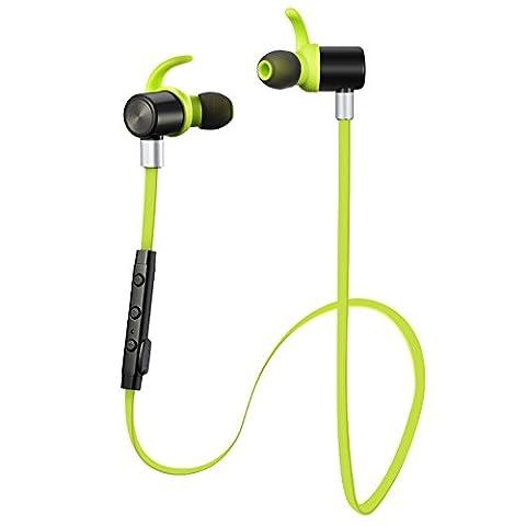 VicTsing Wireless Bluetooth 4.1 Kopfhörer Sport Stereo In-Ear Noise Cancelling Headphones Kopfhörer mit APT-X/Mic für iPhone 7, 7s, 6, 6s und Android Phones