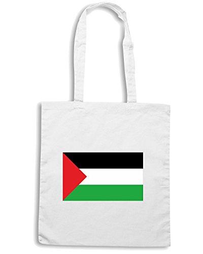 T-Shirtshock - Borsa Shopping TM0220 Palestina flag Bianco