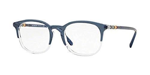 BURBERRY Unisex-Erwachsene 0BE 2272 3719 51 Sonnenbrille, Blau (Top Blue On Rose Crystal)
