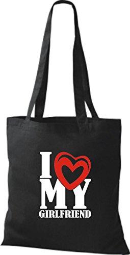 schwarz Valentinstag Girlfriend My Shopper Love I ShirtInStyle Z4YqzUnq