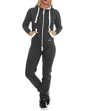 PRINZ LUIS Damen Jumpsuit Jogger Jogging Anzug Trainingsanzug Overall
