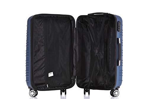BEIBYE 2088 Zwillingsrollen Reisekoffer Koffer Trolleys Hartschale M-L-XL-Set in 13 Farben (Blau, M) - 7