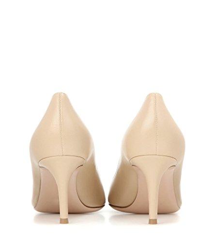 EDEFS 65mm Kitten Heels Klassische Damen Pumps Pointed Toe Kleid Brautschuhe Partei Büro Geschlossen Pumps Beige