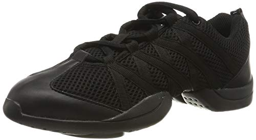 Bloch Criss Cross Damen Sneaker, Schwarz, 38.5 EU (5.5 UK)