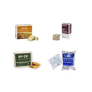 Emergency Food, Sortiment 4 x 500 Gramm, BP WR, BP ER, NRG-5, SEVEN OCEANS, Langzeitnahrung, Prepper, Krisenvorsorge…
