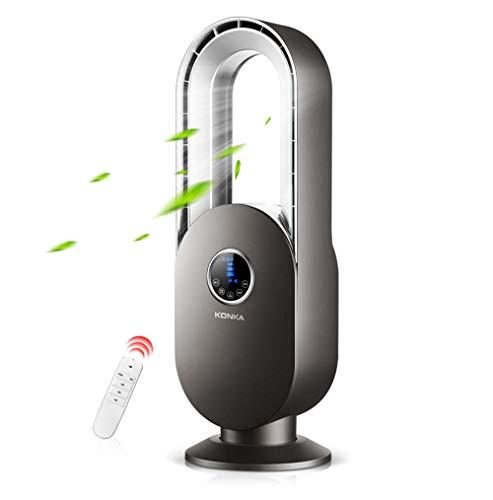 Blattloser Ventilator, stummer Schreibtischturmventilator des Haushalts mit Fernbedienung, Bodenventilator, Umluftventilator, elektrischer Ventilator, Luftreiniger mit negativen Ionen