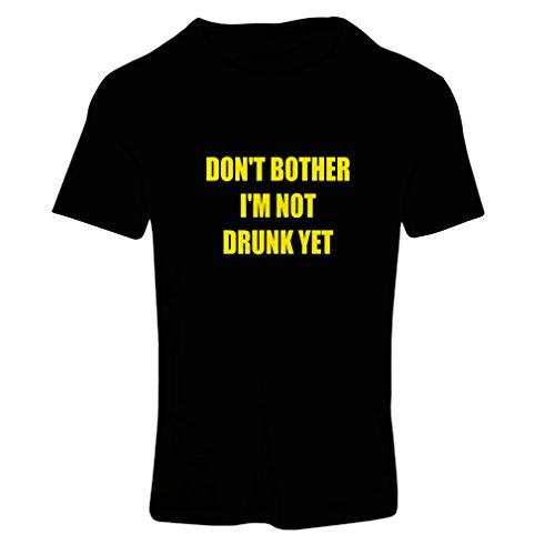 lepni.me T-Shirt Femme Je ne suis Pas saoul Encore! Citations drôles - Concert, fête, Bar Humour (Small Noir Jaune)