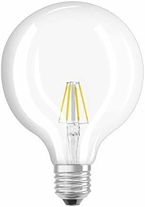 OSRAM Ampoule LED Filament, Globe, Culot E27, 6W Equivalent 60W, 220-240V, claire, Blanc Chaud 2700K, Lot de 1 pièce