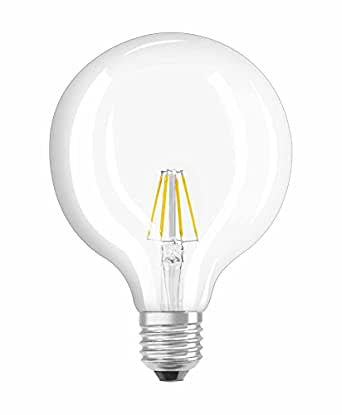 osram ampoule led filament globe culot e27 6w equivalent 60w 220 240v claire blanc chaud. Black Bedroom Furniture Sets. Home Design Ideas