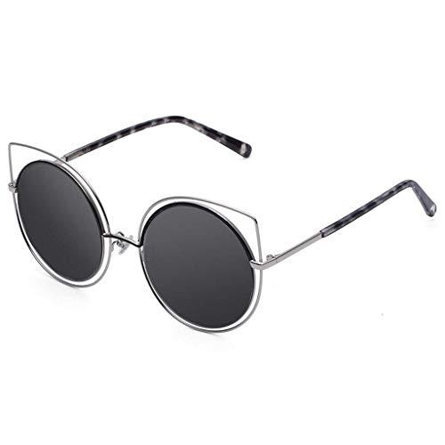 DX Männer und Frauen Sonnenbrillen runden Gesicht Retro große Brille